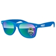 Retro Mirror Sunglasses w/ 1-color imprints - Quality PC Retro sunglasses with mirror UV400 impact resistant PC lenses.