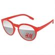 Vicky Mirror Sunglasses w/ 1-color imprint - Quality PC Vicky sunglasses with mirror UV400 impact resistant PC lenses.