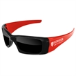 2-Tone Wrap Sunglasses w/ 1-color imprint - Quality PC Wrap sunglasses with dark UV400 impact resistant PC lenses.