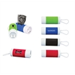 Dog Bag Dispenser With Flashlight - Disposable dog waste bag dispenser with built-in flashlight, using three button cell batteries.