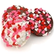 Heart Sprinkles Chocolate Oreos Individually Wrapped - Belgian chocolate dipped oreo with candy heart sprinkles