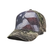 Outdoor Cap Camo Cap with Flag Sublimated Front Panels - Camo Cap with Flag Sublimated Front Panels