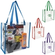 Clear Game Tote - This Clear Game Tote is perfect for fans packing their stadium and event day items safely.  Complies with NFL regulations.