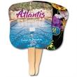 Hourglass Shape Hand Fan, Full Color Digital - Digital printed hand fan on 16 point board.
