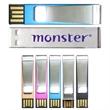 Middlebrook USB Flash Drive (Overseas) - Aluminum USB flash drive and paper clip