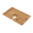Buffet Bamboo Appetizer Plate by True - This appetizer plate is designed with the perfect groove to fit a stemmed wine glass.