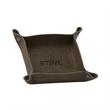 VALET Leather Valet Tray - Leather valet tray with antique nickel snap closures.