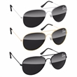 Metal Aviator Sunglasses - Metal aviator sunglasses with dark lenses.