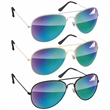 Metal Aviator Sunglasses - Mirror - Metal aviator sunglasses with mirrored lenses.