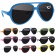 Plastic Aviator Sunglasses - Plastic aviator sunglasses with dark lenses.
