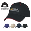 Price Buster Sandwich Cap - 100% Cotton Twill, 6 Panel, Medium Profile Cap, Unstructured Crown & Pre-Curved Sandwich Visor and Adjustable Self-Material Strap.