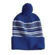 """Sportsman 12"""" Striped Pom-Pom Knit Beanie - 12"""" Striped Pom-Pom Knit Cap"""