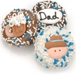 Father's Day Chocolate Dipped Oreos- Individually Wrapped - Father's day decorated oreo, chocolate dipped, individually wrapped