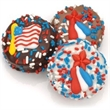 Patriotic Chocolate Dipped Oreos- Individually Wrapped - Oreos dipped and decorated with patriotic decorations & sprinkles
