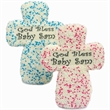 Cross Edible Text Sugar Cookies - Belgian chocoalte Cross sugar cookies with edible text image & custom sprinkles