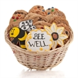 Bee Well Cookie Gift Basket - Baskets packed with our classic cookies and 3 of our famous hand-iced sugar cookies.