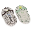 "4.75"" Sugar Shortbread Flip Flop Picture Cookies- Individu - Belgian chocolate Flip flop sugar cookies with edible image and custom sprinkles"