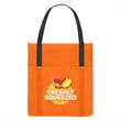 Non-Woven Shopper's Pocket Tote Bag - Non-Woven Shopper's Pocket Tote Bag.  Made of 80 Gram Non-Woven, Coated Water-Resistant Polypropylene.  Front Pocket.  Recyclable.