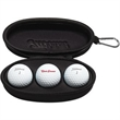 Titleist 3-Ball Sunglass Case - Three-ball, Titleist™ sunglasses case includes three Velocity® golf balls.