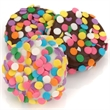 Confetti Chocolate Dipped Oreos- Individually Wrapped - Belgian chocolate Oreo cookie with festive confetti.
