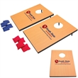 Mini Bag Toss Game - Mini bag toss game with 2 boards, 8 bags (4 red, 4 blue) and 4 detachable legs.
