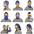 Premium Bammie - Multi-Use Headwear - Use the Bammie as: Bandana, Scarf, Rally Towel, Headband, Face Mask, Hairband, Hair Scrunchie or simply create your own style.