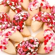 Heart Sprinkles Gourmet Fortune Cookies - Heart sprinkles gourmet fortune cookies.