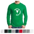 Gildan Heavy Cotton 100% Cotton Long Sleeve T-Shirt - 100% cotton long sleeve T-shirt with double-needle stitching, rib knit cuffs, and variation for different colors.