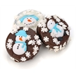 Winter Edition Chocolate Dipped & Decorated Oreos - Winter edition chocolate dipped and decorated individually wrapped.