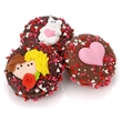 Belgian Chocolate Valentine Oreos - Cookies dipped and decorated.