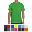 Gildan® Heavy Cotton™ Adult Tee w/ Pocket - Gildan heavy cotton adult t-shirt with left chest pocket, taped neck and shoulders and tear-away label.