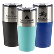 18 oz. Whistler Stainless Steel Tumbler - 18 oz. stainless steel tumbler with double wall vacuum insulation and a splash-proof flip lid.