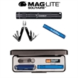 K3A Mag-Lite Solitaire & Multi-Function Tool Combo - Flashlight with lanyard and multi-function tool combo.