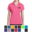 Sport-Tek Ladies' PosiCharge RacerMesh Polo - Ladies' highly breathable polo made of 100% polyester flat back mesh with moisture wicking.