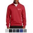 Sport-Tek Tall 1/4-Zip Sweatshirt - Sport-Tek tall 1/4-zip sweatshirt made of cotton/polyester fleece with rib-knit cuffs and waistband.