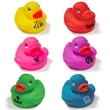 "Colorful Rubber Duck Toy - Rubber duck measuring 2"" and available in several fantastic colors."