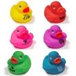 "Colorful Rubber Duck Toy - 2"" colorful rubber duck."