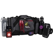 Exercise Essentials - Duffel with 26 oz. bottle, Smartphone wallet, Bluetooth earbuds, light up armband, towel and sunglasses.