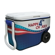 40-Quart Wheeled Cooler with Rappz Cover - Customize your cooler to promote your brand, display colorful artwork or show off your team spirit.