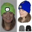 LED Beanie - Acrylic knit beanie with integrated LED light panel and two button cell batteries that are included and replaceable