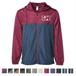 Independent Trading Company Lightweight Windbreaker Jacket - Lightweight windbreaker jacket made of polyester fabric with interior water-resistant coating and a three-panel hood.