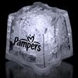 "1 3/8"" Premium Light-Up Glow Cube - White 1 3/8"" novelty ice cube with LED lights."