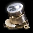 Stock Flashing Light Up LED Glow Button - Stock LED light-up flashing button with Tie-Tie butterfly backing.