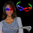 Tri-Color LED Light Up Glasses - Three-colored LED light up glasses.