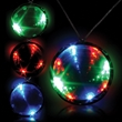"2 3/4"" Tri-Color Light Up LED Infinity Badge w/ Necklace - 2 3/4"" tri-color LED lighted infinity badge with necklace."