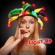 Mardi Gras Light Up LED Hat - Mardi Gras-themed hat with LED lighting.