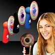 Handheld MultiColor LED Light Up Glow Fan - Handheld fan with multi-colored LED lights.