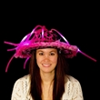 Pink Light Up LED Show Daddy Novelty Hat