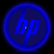 Blue Circle Shape Flashing LED Light Up Glow Button