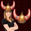 LED Light Up Viking Helmet - LED light-up Viking helmet; one size fits all.
